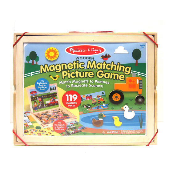 Melissa & Doug: Wooden Magnetic Matching Picture Game