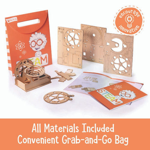 Open the Joy STEAM Activity Bag: Build Your Own Marble Run