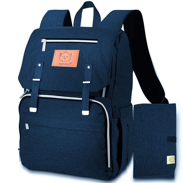KeaBabies Diaper Bag Backpack - Navy Blue