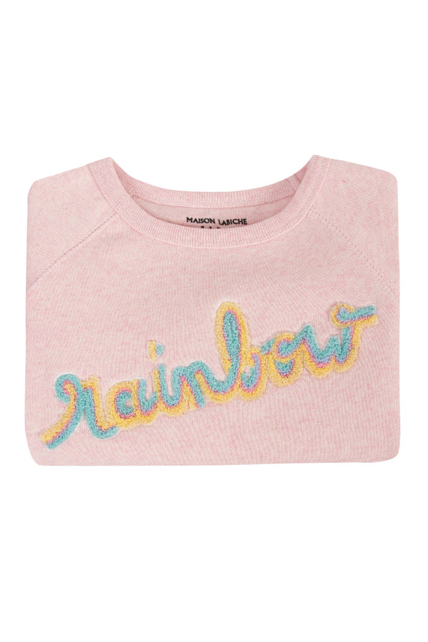 Maison Labiche Patch Rainbow Sweatshirt