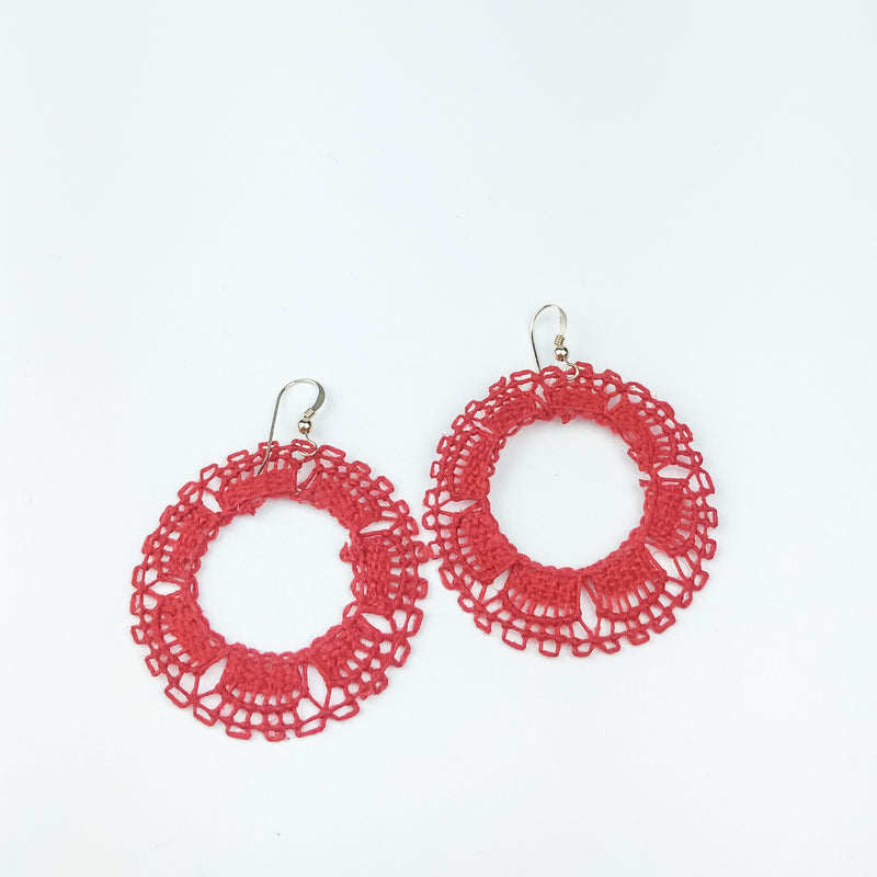 Hoop Ñanduti Earrings - Cityhome