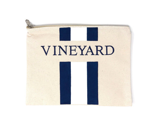 Canvas Pouch with Hand Painted VINEYARD - Cityhome