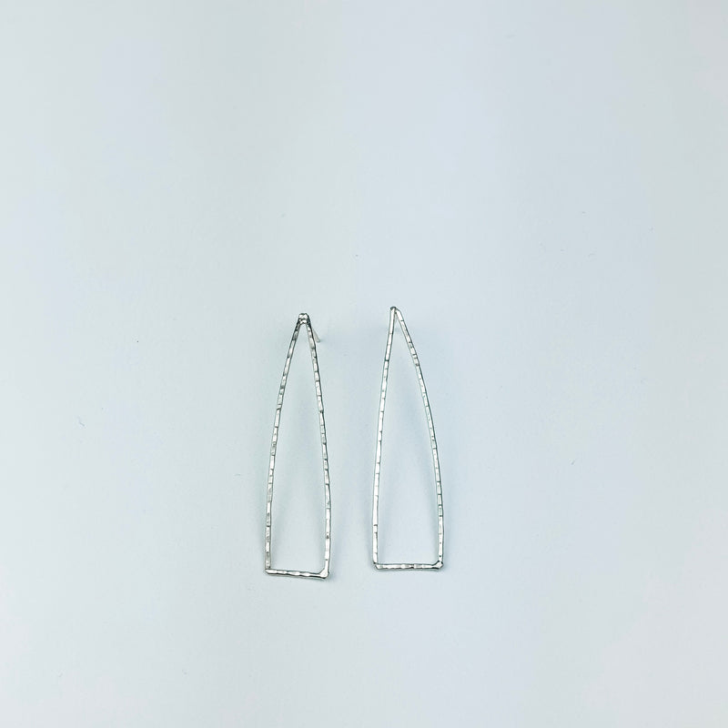 Long Open Triangle Studs - Cityhome