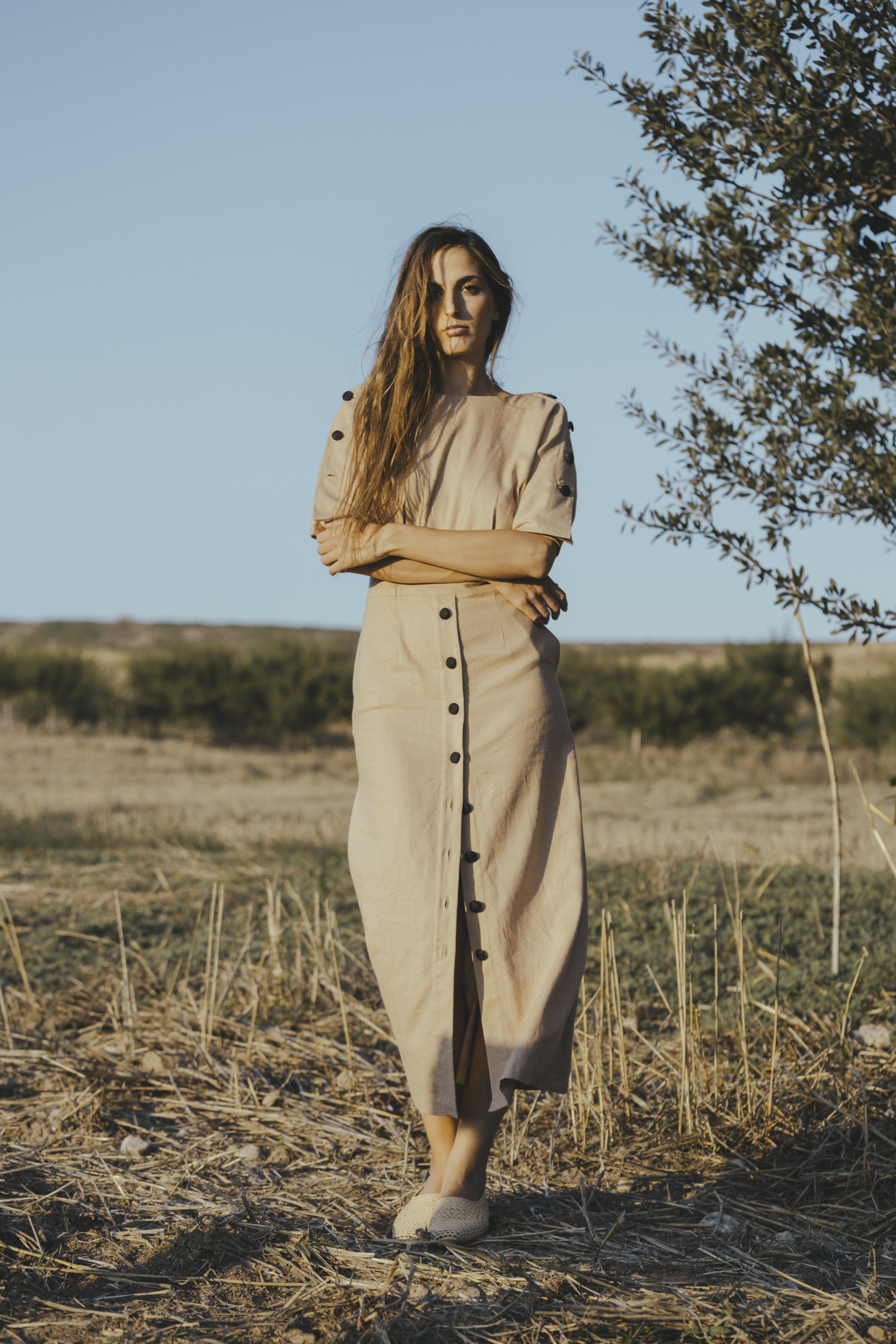 FALF MINIMAL CHIC Linen dress