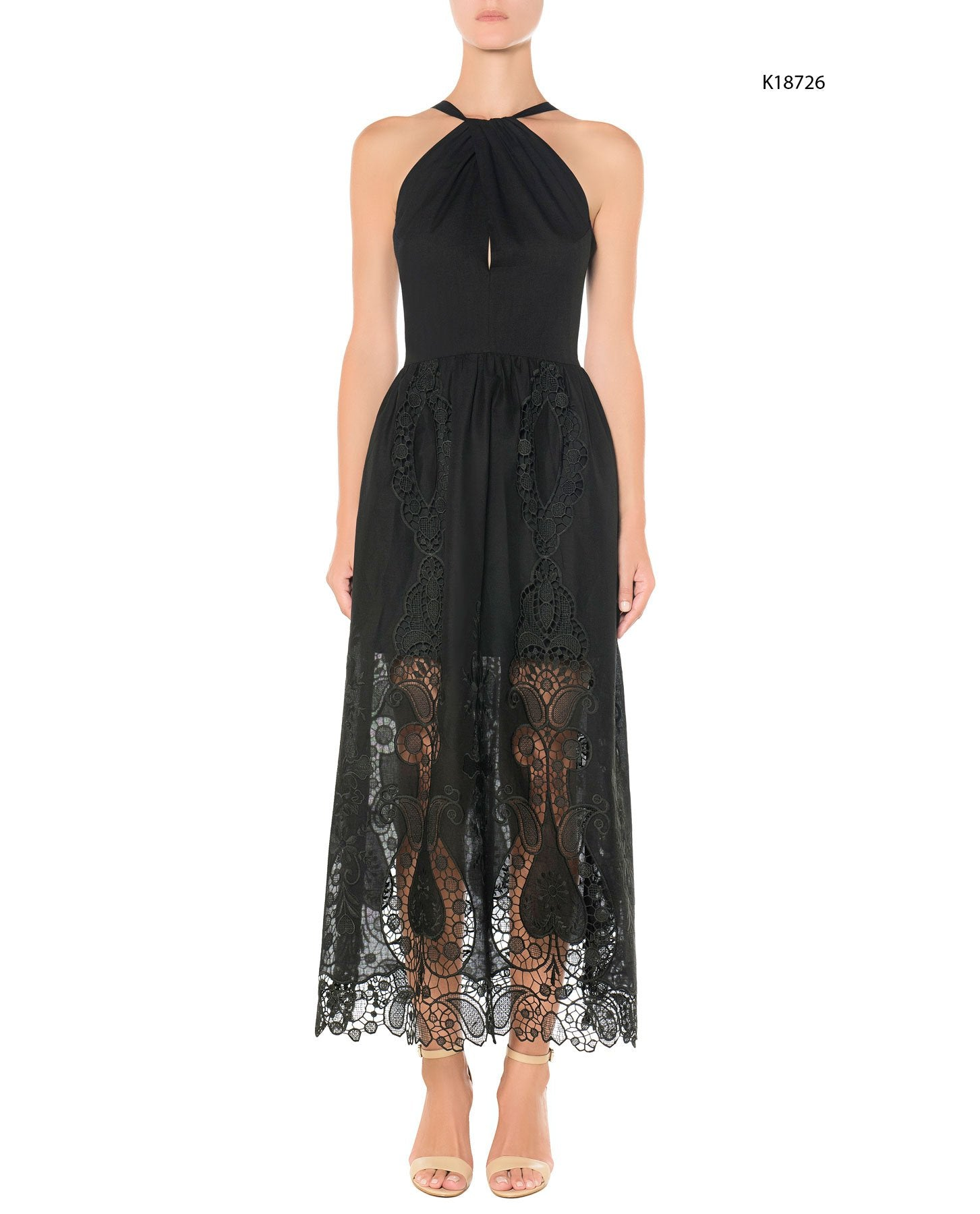 MI-RO Embroidered long dress