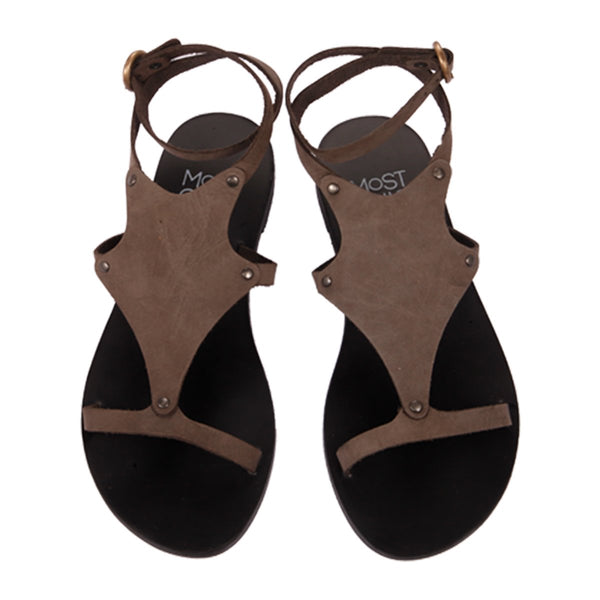 MOST CHIC Nerine castor leather sandals