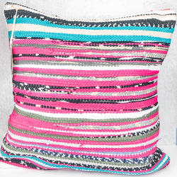 Pink Stripe Trapo Pillow - Cityhome