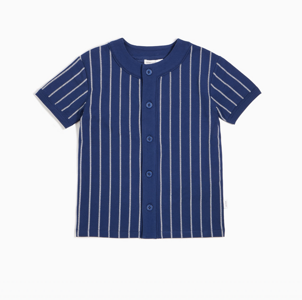Miles Baseball Stripe Button Up