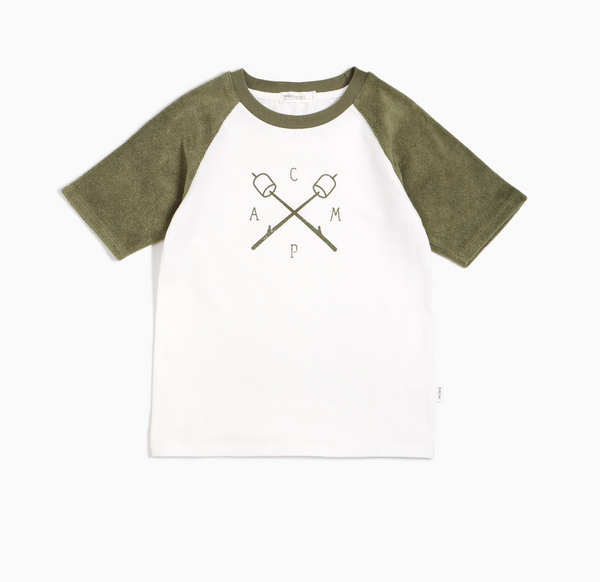 Miles Camp Raglan Tee - Forest