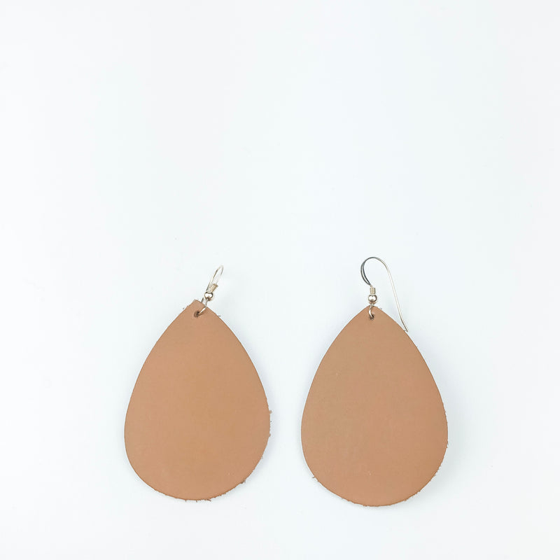 Solid Leather Teardrop Earrings - Cityhome