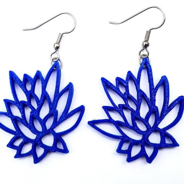 Lotus Flower Earrings / Available in many colors