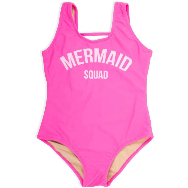 Shade Critters One-Piece Mermaid Squad - Hot Pink