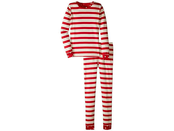 Hatley Metallic Striped Holiday Organic Cotton PJ Set