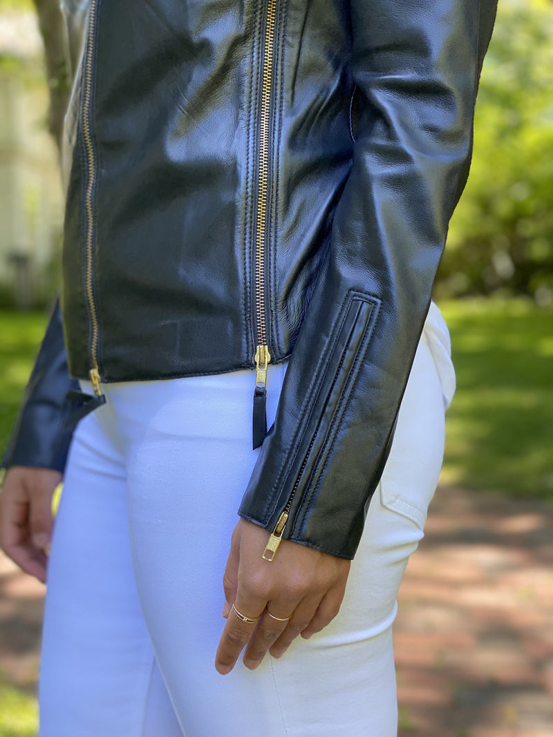 Jakett Washed Leather Jacket
