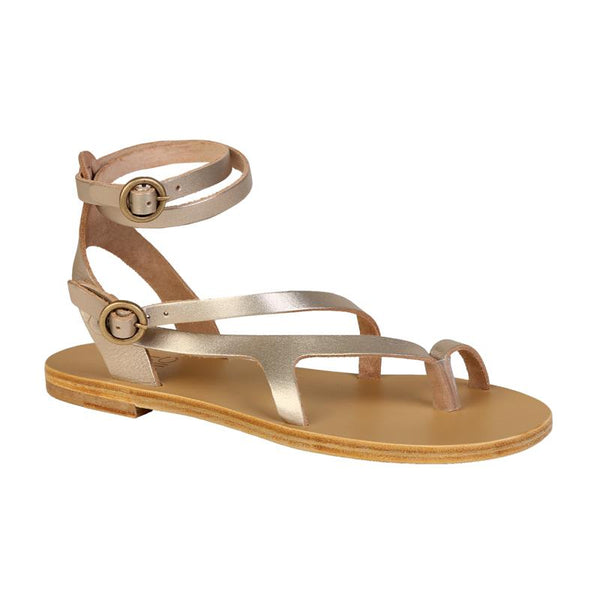 Most Chic Nymphea metal sand leather sandals