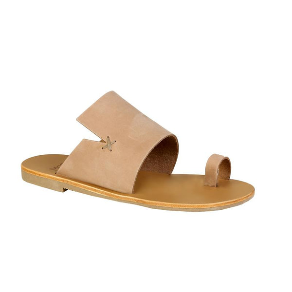 MOST CHIC Rosa sabbia leather sandals