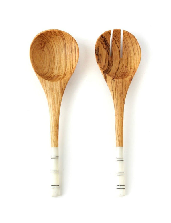 Striped Salad Servers
