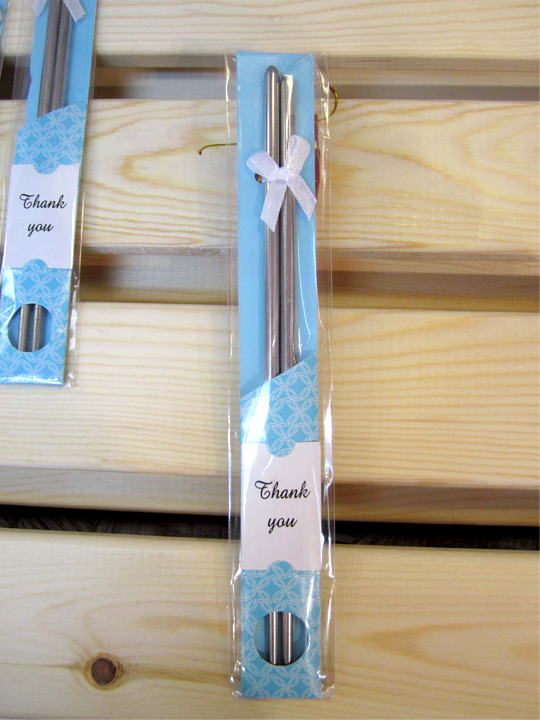 Chopsticks Stainless Steel Tableware Wedding Gifts - OakPo Paper Co.