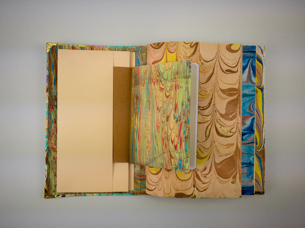 Hand-marbled traveler's notebook - OakPo Paper Co.