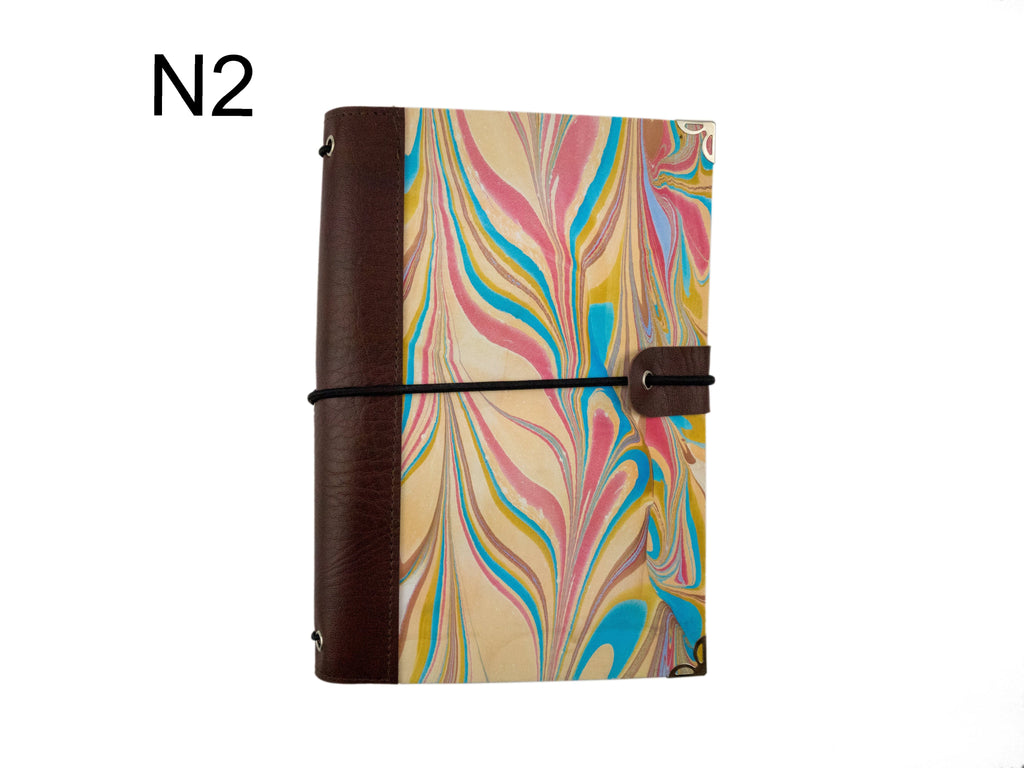 1 Hand-marbled traveler's notebook - OakPo Paper Co.