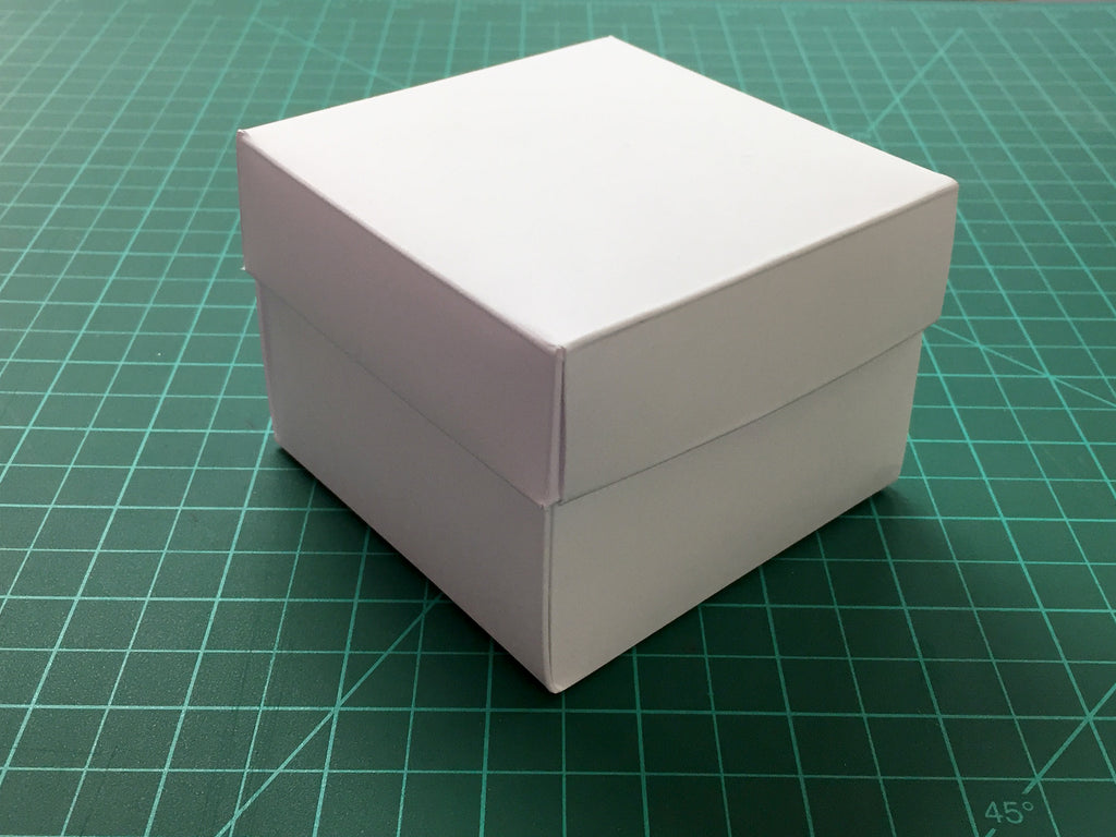 10 White Gift Box -- 3.45''X3.45''X2.75'' - OakPo Paper Co.