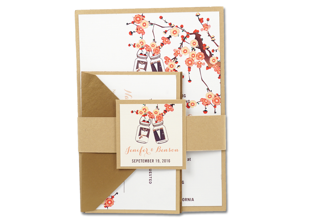 F2-Blossom Jar Belly Band - OakPo Paper Co.