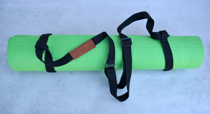 Adjustable Yoga Mat Carrier, Yoga mat strap with adjustable plastic buckle - OakPo Paper Co.