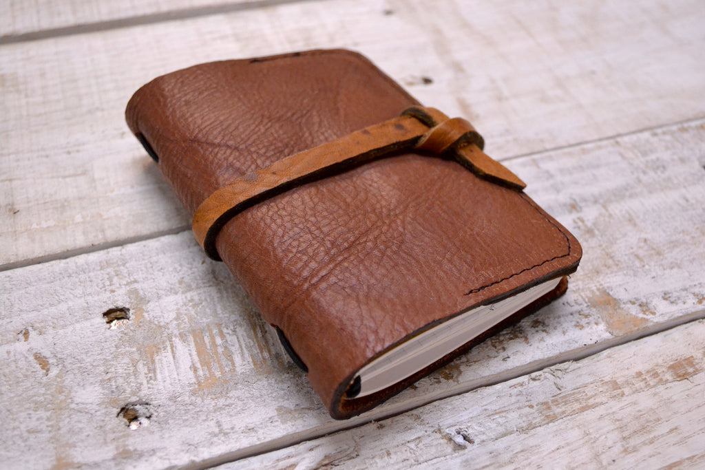 Recycled Leather Passport Holder+2 Pocket size notebooks - OakPo Paper Co.