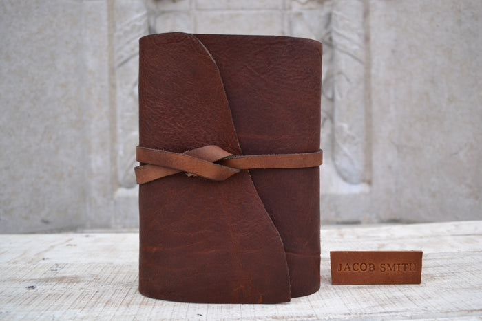 5.5x8 Leather Journal - OakPo Paper Co.