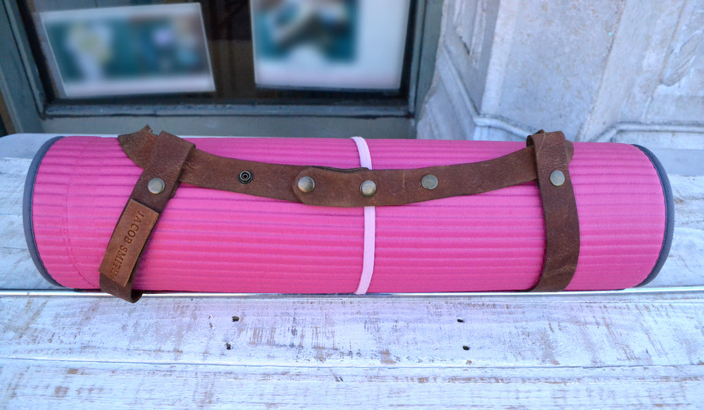 Leather Yoga Mat Strap - OakPo Paper Co.