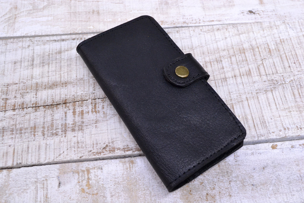 Leather iPhone XS / X Case, Leather Phone Wallet Case - OakPo Paper Co.