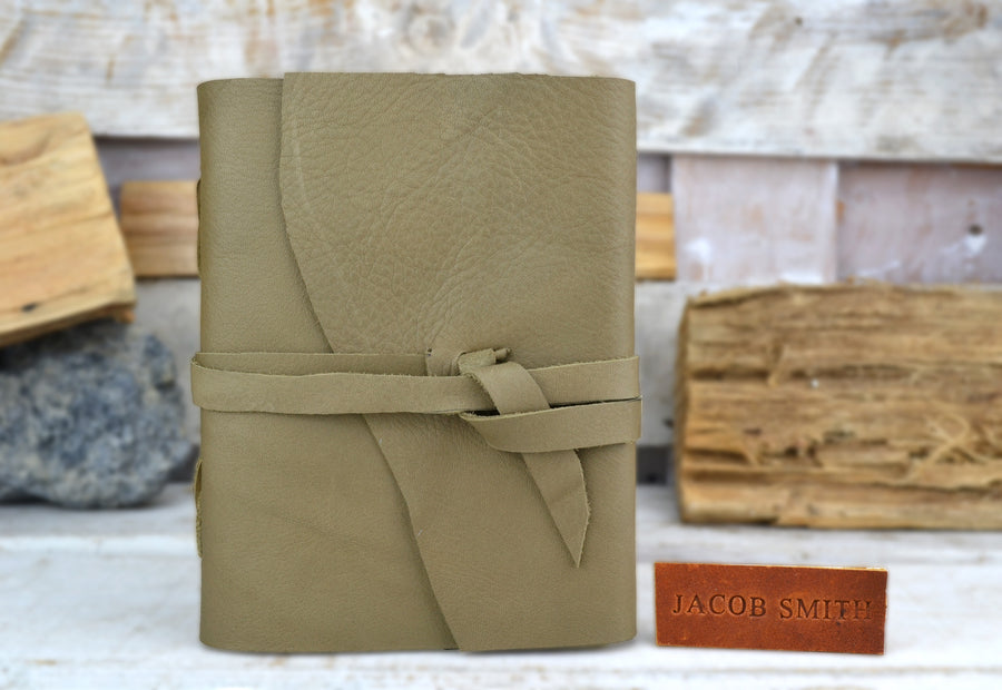 Personalized Leather Journal, Travel Journal, Personalized Leather Notebook, Journal - OakPo Paper Co.