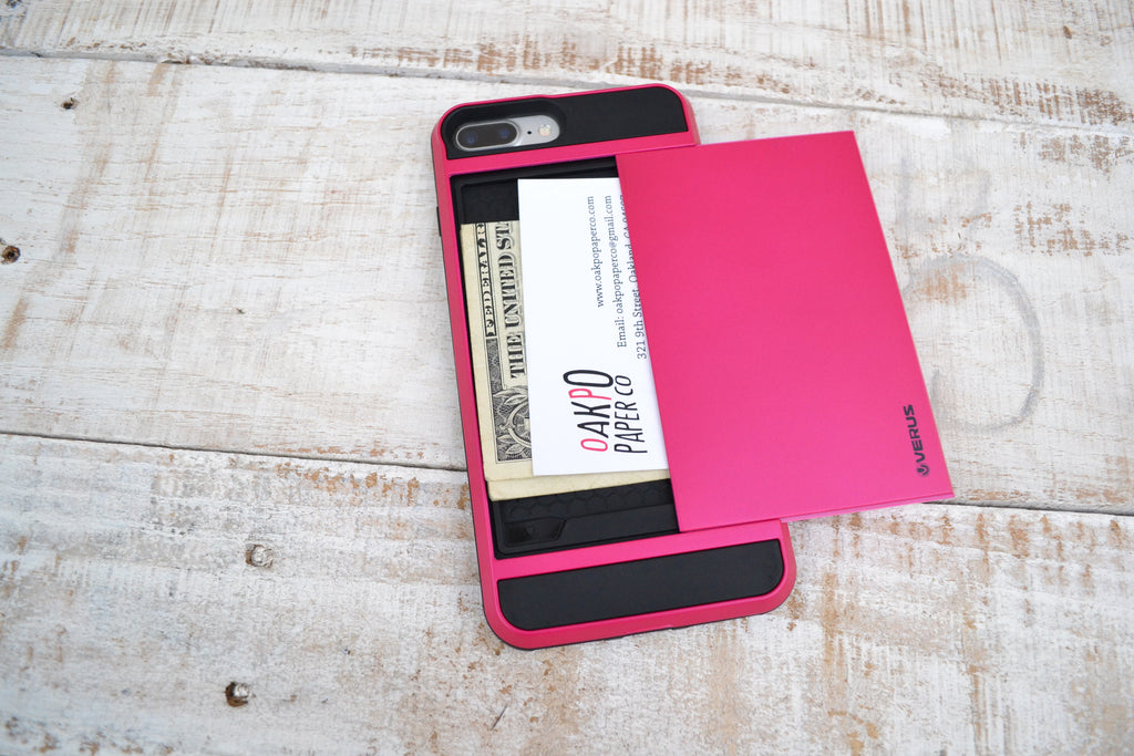 iPhone 8 plus / 7 plus Case with Card Holder Shell - OakPo Paper Co.