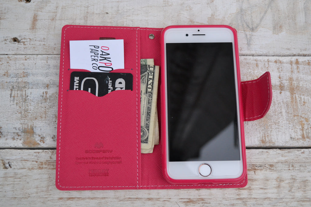 iPhone Wallet Case, iPhone Case, for iPhone 8 /7 - OakPo Paper Co.