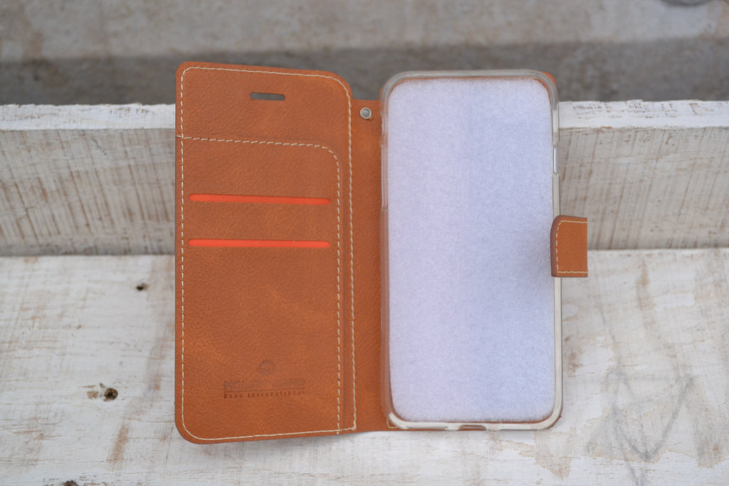 iPhone 8, iPhone 7 Wallet Case, iPhone Case, PU leather Phone Case - OakPo Paper Co.