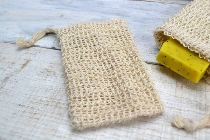 Soap Saver, Sisal Exfoliating Soap Pouch - OakPo Paper Co.