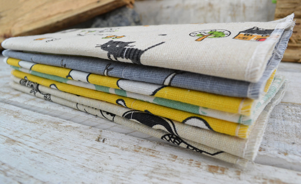 Unpaper Towels, Lunch Napkins, 2 layers, Choose Your Print - OakPo Paper Co.