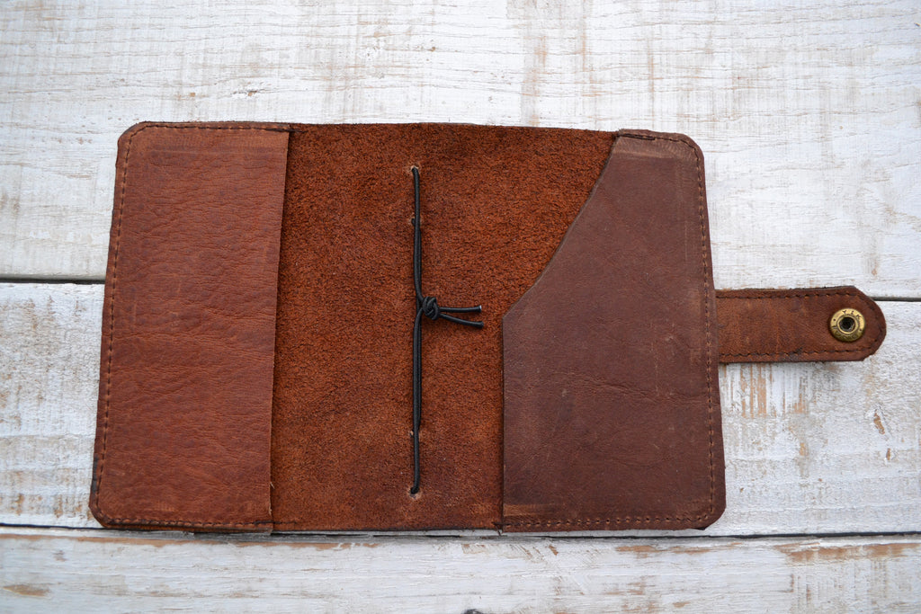 Leather passport cover - OakPo Paper Co.