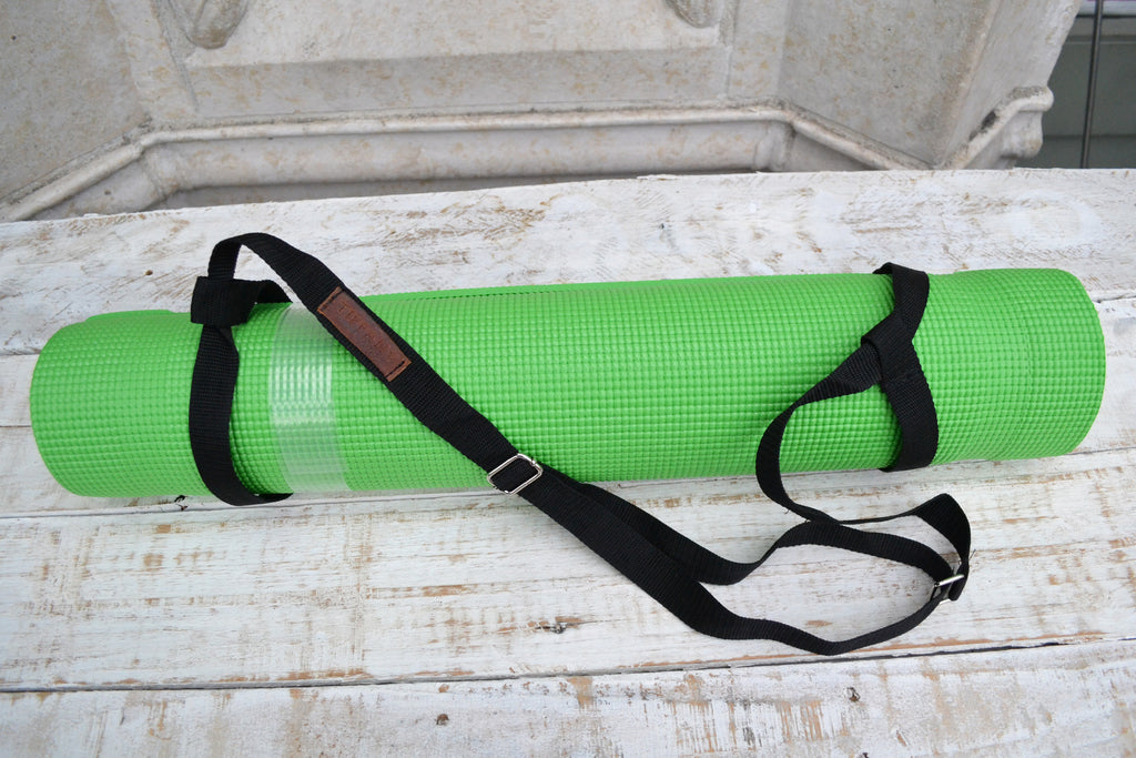 Yoga Mat Strap, Adjustable Yoga Mat Carrier with silver buckle - OakPo Paper Co.