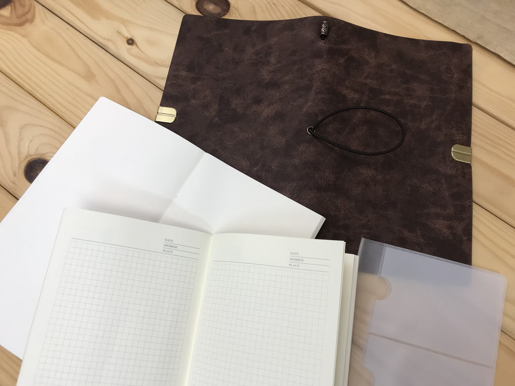 Travel notebook with Frosted Card Holder - OakPo Paper Co.