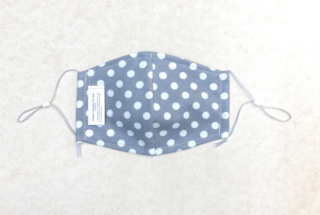 Dotted Print Face Mask, Washable/Reusable Face Mask