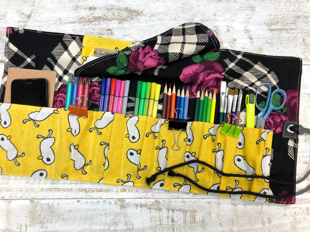 Personalized Pencil Roll, Pencil Roll Case