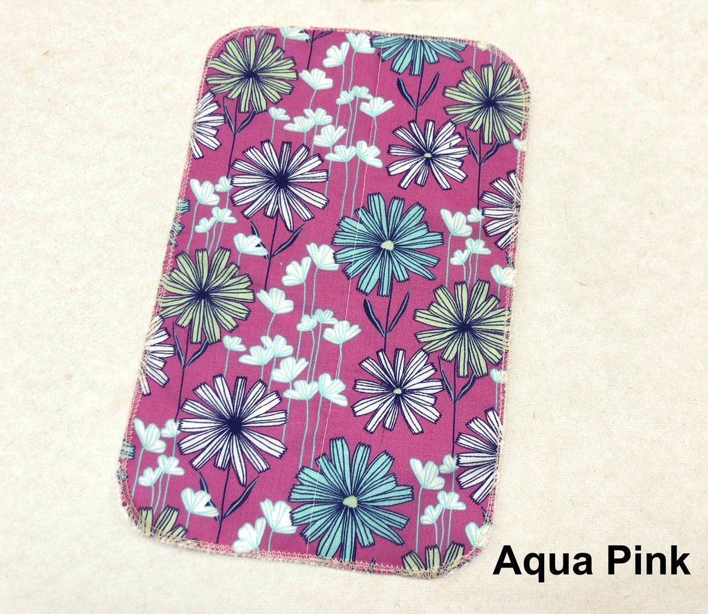 2 Ply Paperless Towels, 7''x 11'' Floral Cloth Towels