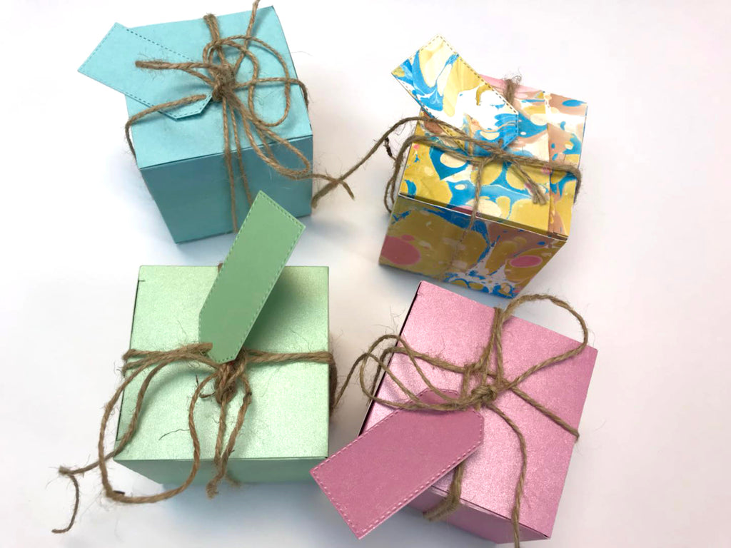 10 boxes-3x3x3 Square gift box - OakPo Paper Co.
