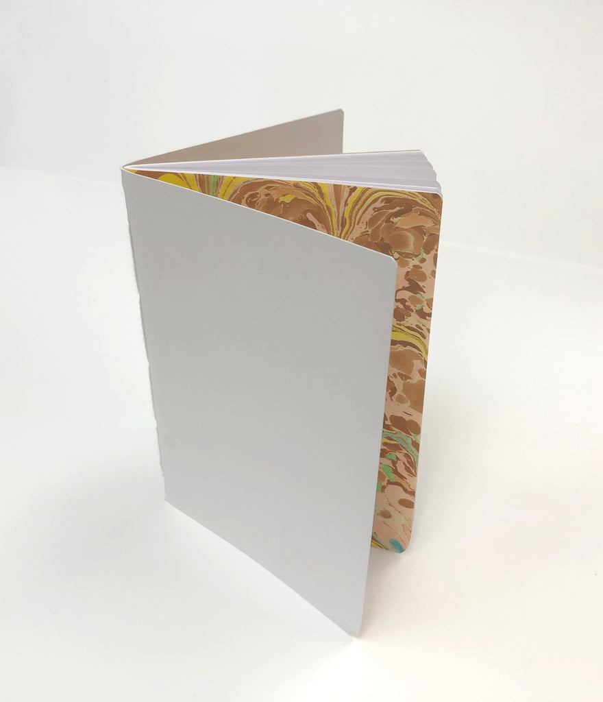 3.5''x5'' Kraft/ White/ Whipped Berry Handmade Notebooks - OakPo Paper Co.