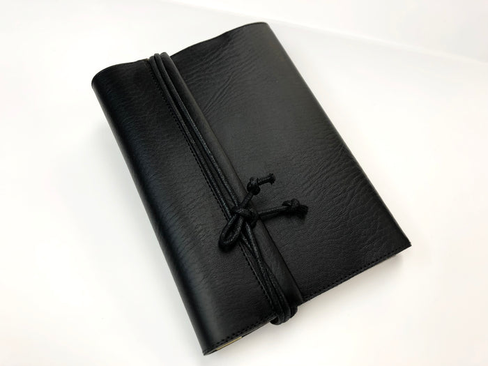 Black Faux Leather Notebook - OakPo Paper Co.