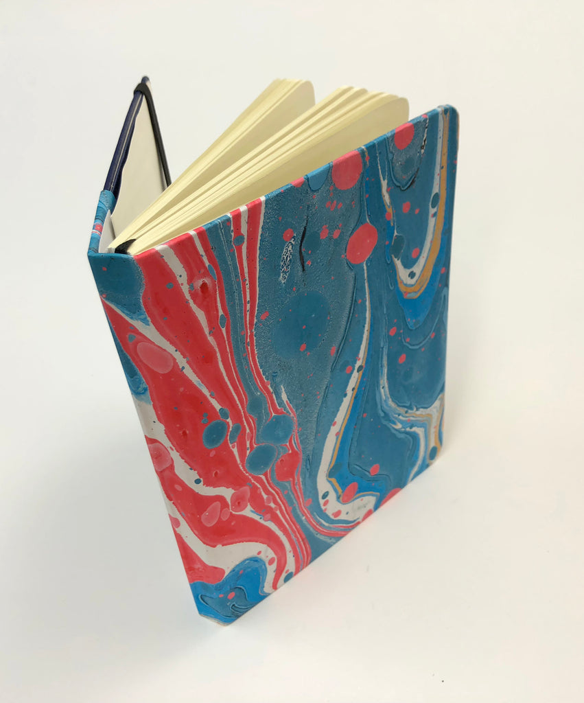 5x7 Marbled blue hardcover notebook - OakPo Paper Co.