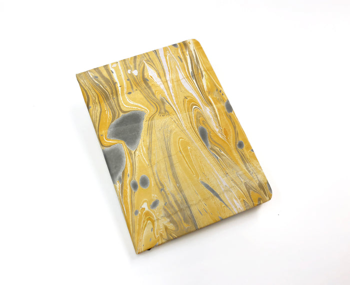 5x7 Marbled Yellow hardcover notebook - OakPo Paper Co.