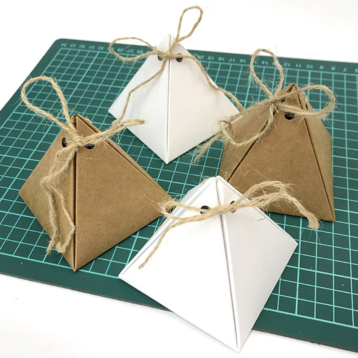 10 boxes-3.5''x3.25''x3'' Pyramid Favor Boxes - OakPo Paper Co.