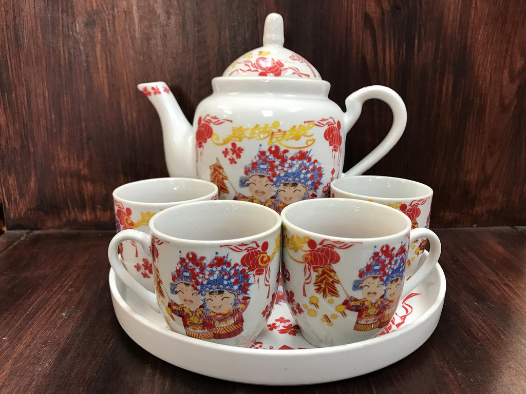 Tie the knot tea set - OakPo Paper Co.